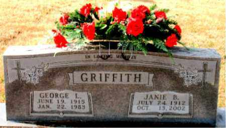 GRIFFITH, JANIE B. - Carroll County, Arkansas | JANIE B. GRIFFITH - Arkansas Gravestone Photos