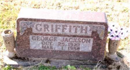 GRIFFITH, GEORGE  JACKSON - Carroll County, Arkansas   GEORGE  JACKSON GRIFFITH - Arkansas Gravestone Photos