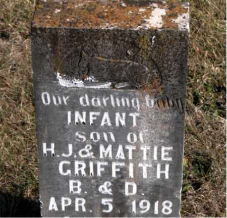 GRIFFITH, INFANT SON - Carroll County, Arkansas | INFANT SON GRIFFITH - Arkansas Gravestone Photos
