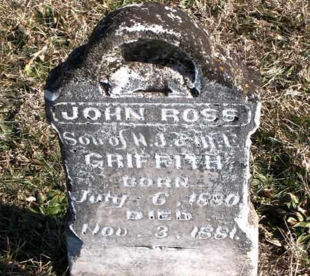 GRIFFITH, JOHN  ROSS - Carroll County, Arkansas   JOHN  ROSS GRIFFITH - Arkansas Gravestone Photos