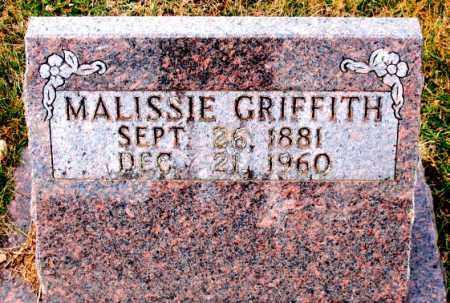 GRIFFITH, MALISSIE - Carroll County, Arkansas | MALISSIE GRIFFITH - Arkansas Gravestone Photos
