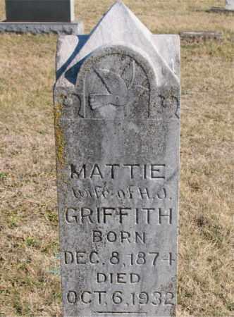 GRIFFITH, MATTIE - Carroll County, Arkansas | MATTIE GRIFFITH - Arkansas Gravestone Photos