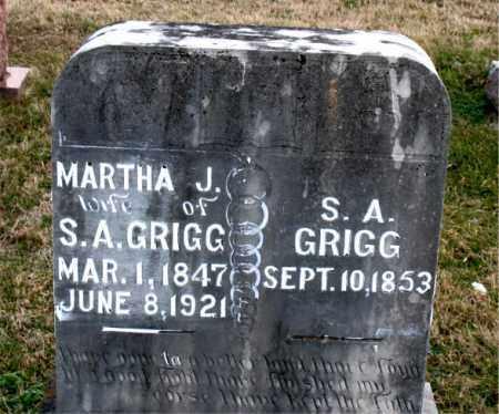 GRIGG, S. A. - Carroll County, Arkansas | S. A. GRIGG - Arkansas Gravestone Photos