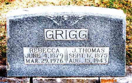 GRIGG, J. THOMAS - Carroll County, Arkansas   J. THOMAS GRIGG - Arkansas Gravestone Photos