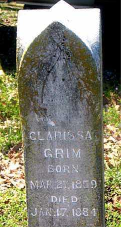 GRIM, CLARISSA - Carroll County, Arkansas | CLARISSA GRIM - Arkansas Gravestone Photos