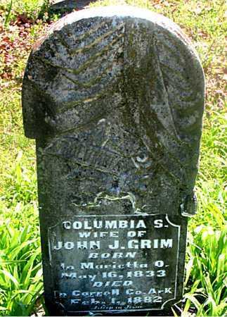 GRIM, COLUMBIA S - Carroll County, Arkansas | COLUMBIA S GRIM - Arkansas Gravestone Photos