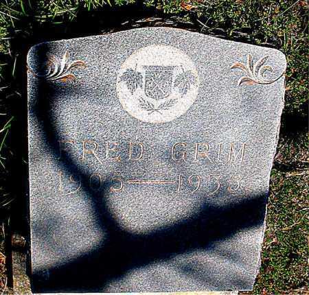 GRIM, FRED - Carroll County, Arkansas | FRED GRIM - Arkansas Gravestone Photos