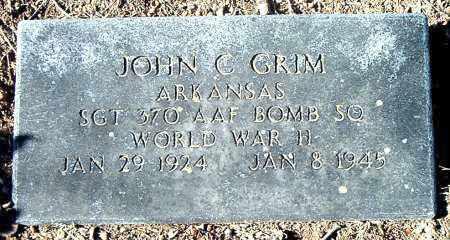 GRIM  (VETERAN WWII), JOHN C - Carroll County, Arkansas | JOHN C GRIM  (VETERAN WWII) - Arkansas Gravestone Photos