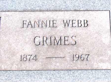 WEBB GRIMES, FANNIE - Carroll County, Arkansas | FANNIE WEBB GRIMES - Arkansas Gravestone Photos