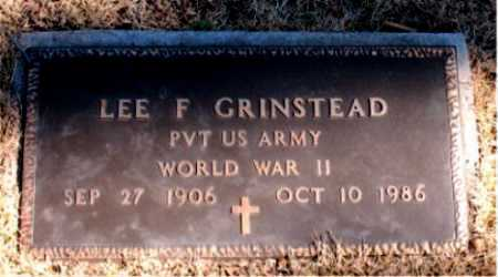 GRINSTEAD  (VETERAN WWII), LEE  F. - Carroll County, Arkansas | LEE  F. GRINSTEAD  (VETERAN WWII) - Arkansas Gravestone Photos