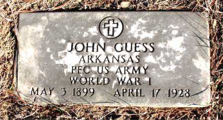 GUESS  (VETERAN WWI), JOHN - Carroll County, Arkansas | JOHN GUESS  (VETERAN WWI) - Arkansas Gravestone Photos