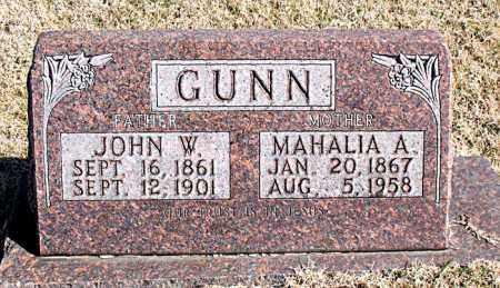 GUNN, MAHALIA A. - Carroll County, Arkansas   MAHALIA A. GUNN - Arkansas Gravestone Photos