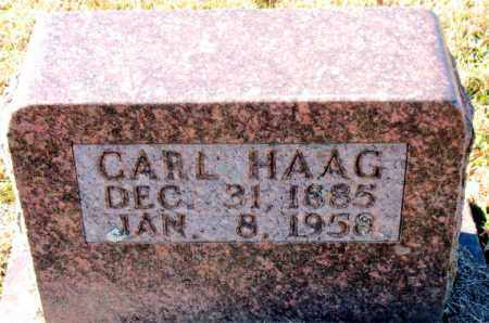HAAG, CARL - Carroll County, Arkansas | CARL HAAG - Arkansas Gravestone Photos