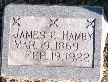 HAMBY, JAMES E. - Carroll County, Arkansas | JAMES E. HAMBY - Arkansas Gravestone Photos