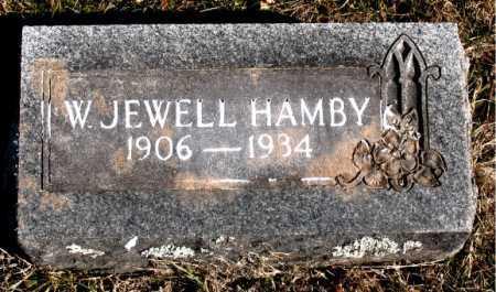 HAMBY, W. JEWELL - Carroll County, Arkansas | W. JEWELL HAMBY - Arkansas Gravestone Photos