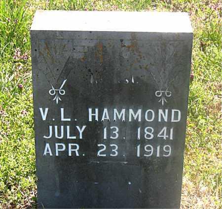 HAMMOND, V. L. - Carroll County, Arkansas | V. L. HAMMOND - Arkansas Gravestone Photos