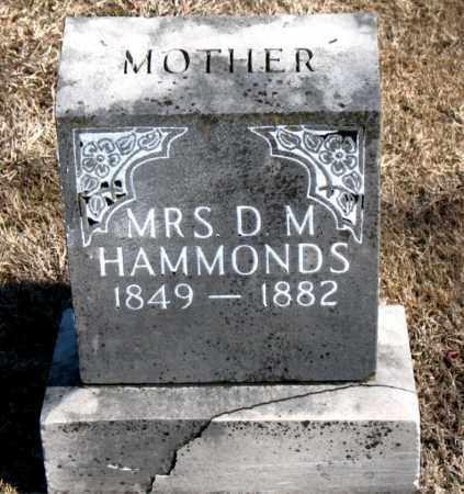 HAMMONDS, MRS., D. M. - Carroll County, Arkansas   D. M. HAMMONDS, MRS. - Arkansas Gravestone Photos