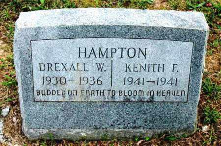 HAMPTON, KENITH  F - Carroll County, Arkansas   KENITH  F HAMPTON - Arkansas Gravestone Photos