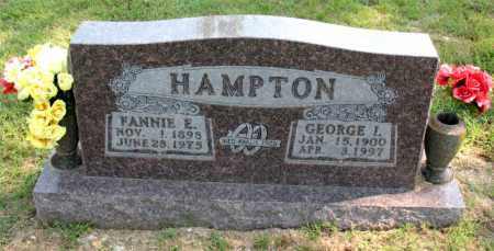HAMPTON, GEORGE I - Carroll County, Arkansas   GEORGE I HAMPTON - Arkansas Gravestone Photos