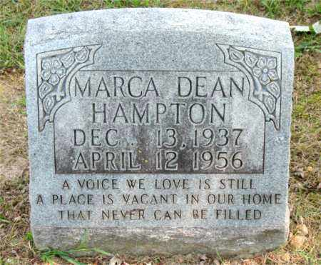 HAMPTON, MARCA  DEAN - Carroll County, Arkansas | MARCA  DEAN HAMPTON - Arkansas Gravestone Photos
