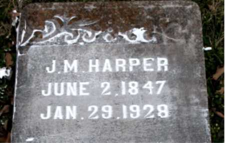 HARPER, J. M. - Carroll County, Arkansas | J. M. HARPER - Arkansas Gravestone Photos