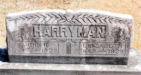 HARRYMAN, ELIZABETH - Carroll County, Arkansas | ELIZABETH HARRYMAN - Arkansas Gravestone Photos