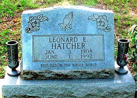 HATCHER, LEONARD E. - Carroll County, Arkansas | LEONARD E. HATCHER - Arkansas Gravestone Photos