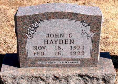 HAYDEN, JOHN C - Carroll County, Arkansas | JOHN C HAYDEN - Arkansas Gravestone Photos