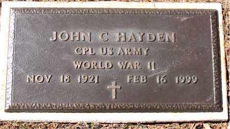 HAYDEN (VETERAN WWII), JOHN C - Carroll County, Arkansas | JOHN C HAYDEN (VETERAN WWII) - Arkansas Gravestone Photos