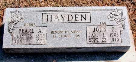 HAYDEN, JOHN C. - Carroll County, Arkansas | JOHN C. HAYDEN - Arkansas Gravestone Photos