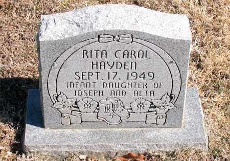 HAYDEN, RITA CAROL - Carroll County, Arkansas | RITA CAROL HAYDEN - Arkansas Gravestone Photos