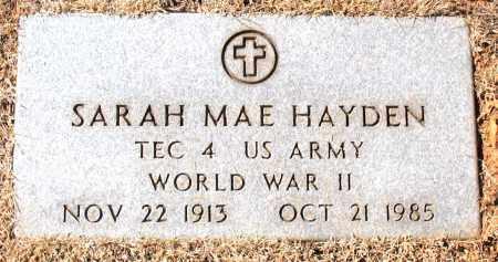 HAYDEN (VETERAN WWII), SARAH MAE - Carroll County, Arkansas | SARAH MAE HAYDEN (VETERAN WWII) - Arkansas Gravestone Photos