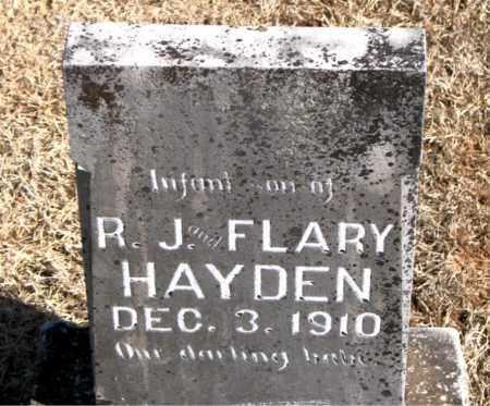 HAYDEN, TWINS  R.J  AND  FLARY - Carroll County, Arkansas   TWINS  R.J  AND  FLARY HAYDEN - Arkansas Gravestone Photos