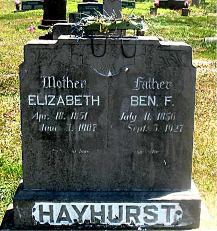 HAYHURST, MARY ELIZABETH - Carroll County, Arkansas | MARY ELIZABETH HAYHURST - Arkansas Gravestone Photos