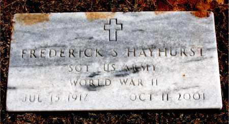 HAYHURST (VETERAN WWII), FREDERICK S - Carroll County, Arkansas | FREDERICK S HAYHURST (VETERAN WWII) - Arkansas Gravestone Photos