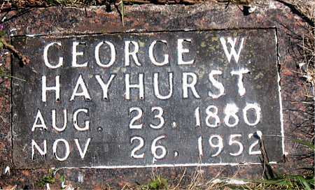 HAYHURST, GEORGE W. - Carroll County, Arkansas | GEORGE W. HAYHURST - Arkansas Gravestone Photos