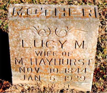 HAYHURST, LUCY  M. - Carroll County, Arkansas | LUCY  M. HAYHURST - Arkansas Gravestone Photos