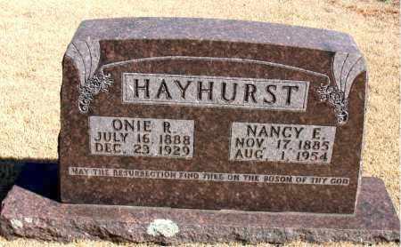 HAYHURST, NANCY E. - Carroll County, Arkansas | NANCY E. HAYHURST - Arkansas Gravestone Photos