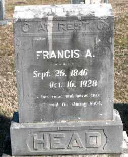 HEAD, FRANCIS A - Carroll County, Arkansas   FRANCIS A HEAD - Arkansas Gravestone Photos