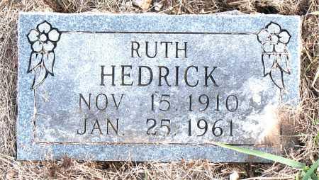 HEDRICK, RUTH - Carroll County, Arkansas | RUTH HEDRICK - Arkansas Gravestone Photos