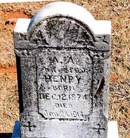 HENRY, A. A. - Carroll County, Arkansas | A. A. HENRY - Arkansas Gravestone Photos