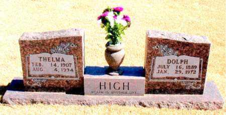 HIGH, DOLPH - Carroll County, Arkansas | DOLPH HIGH - Arkansas Gravestone Photos
