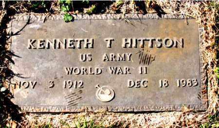 HITTSON (VETERAN WWII), KENNETH T. - Carroll County, Arkansas   KENNETH T. HITTSON (VETERAN WWII) - Arkansas Gravestone Photos