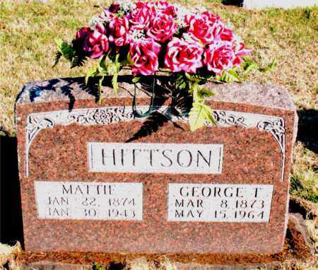 HITTSON, MATTIE - Carroll County, Arkansas   MATTIE HITTSON - Arkansas Gravestone Photos