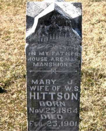 HITTSON, MARY  J. - Carroll County, Arkansas | MARY  J. HITTSON - Arkansas Gravestone Photos