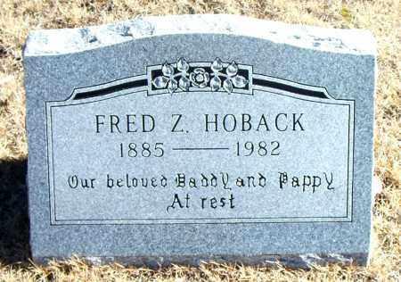 HOBACK, FRED Z. - Carroll County, Arkansas | FRED Z. HOBACK - Arkansas Gravestone Photos