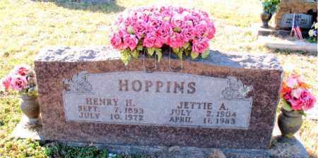 HOPPINS, JETTIE  A. - Carroll County, Arkansas | JETTIE  A. HOPPINS - Arkansas Gravestone Photos