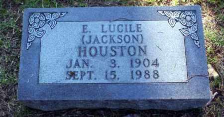 HOUSTON, E LUCILE - Carroll County, Arkansas | E LUCILE HOUSTON - Arkansas Gravestone Photos
