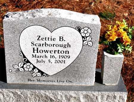 SCARBOROUGH HOWERTON, ZETTIE B. - Carroll County, Arkansas | ZETTIE B. SCARBOROUGH HOWERTON - Arkansas Gravestone Photos