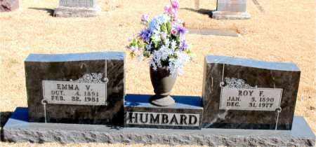 HUMBARD, EMMA V. - Carroll County, Arkansas | EMMA V. HUMBARD - Arkansas Gravestone Photos